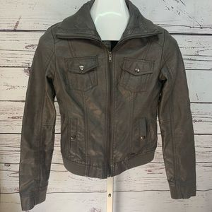 American Rag faux leather gray jacket